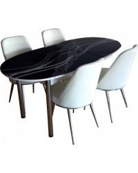 7998A-Bürocci Masa Sandalye Takımı - Masa Grubu - Bürocci